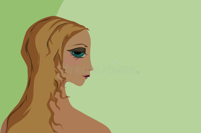 Download Amielie on green stock illustration. Illustration of model - 826356