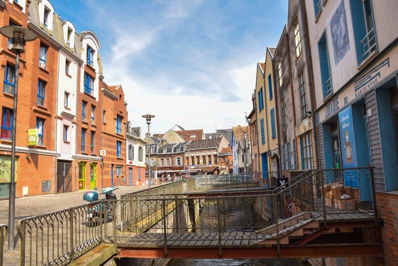 Amiens - den lilla Venedig royaltyfria foton