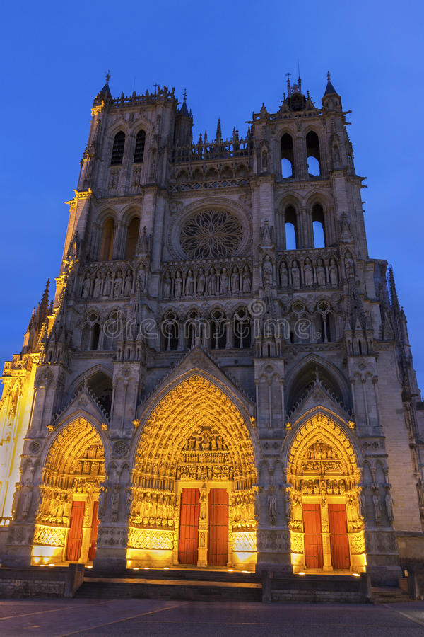 Amiens domkyrka i Frankrike arkivfoton