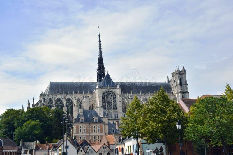 Amiens domkyrka, Picardy, Frankrike, Europa royaltyfri fotografi