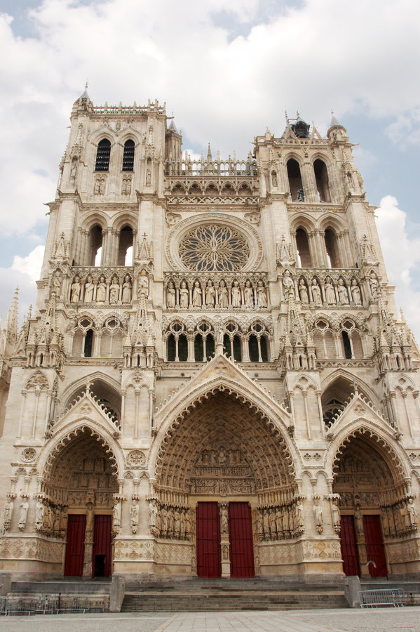 Amiens-Kathedrale lizenzfreie stockfotografie
