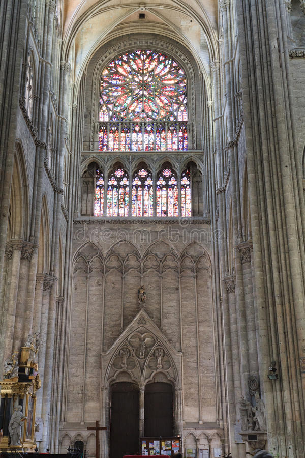 Amiens-Kathedrale Frankreich 10 lizenzfreie stockbilder