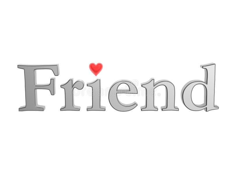 Amigo com coração do amor ilustração stock