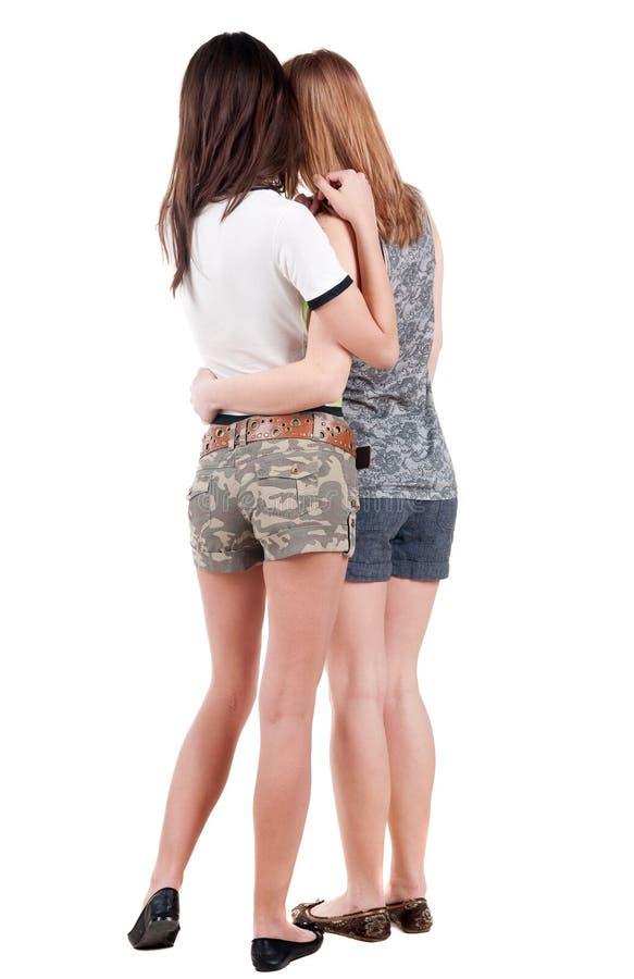 Amigo de duas jovens mulheres fotografia de stock royalty free