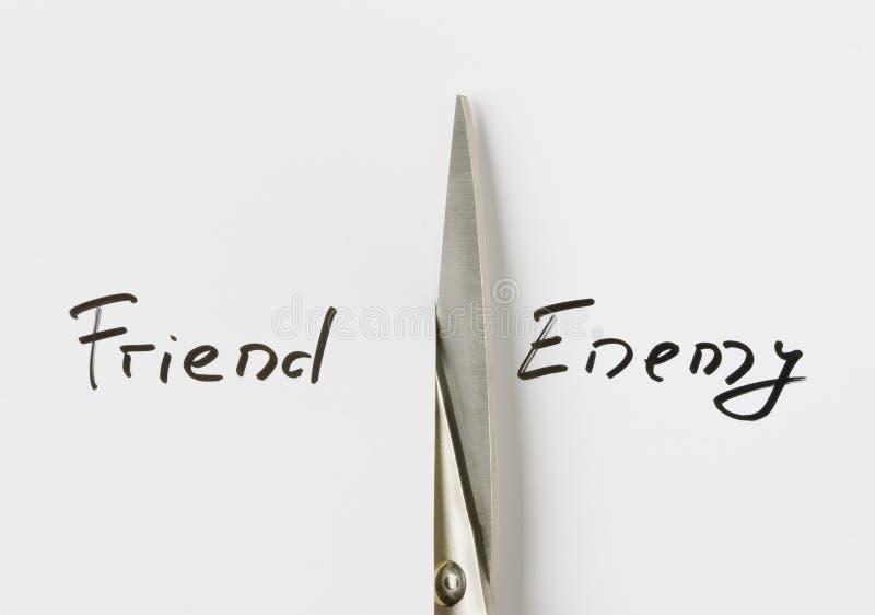 Amigo/enemigo imagenes de archivo