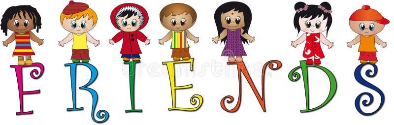 Amigos ilustração royalty free