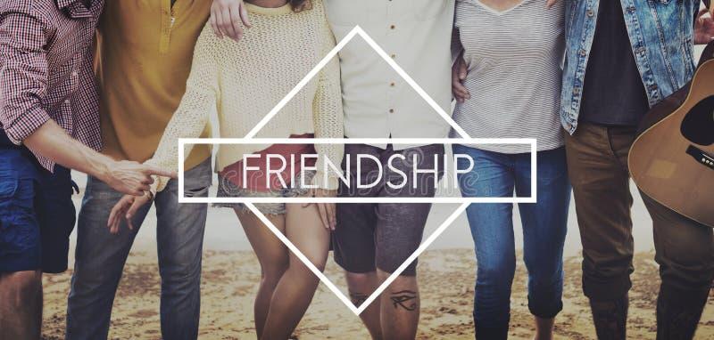 Amigos Buddy Relationship Together Concept imagem de stock