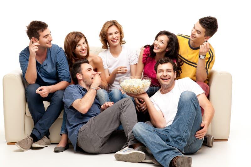 Amigos de la TV fotografía de archivo