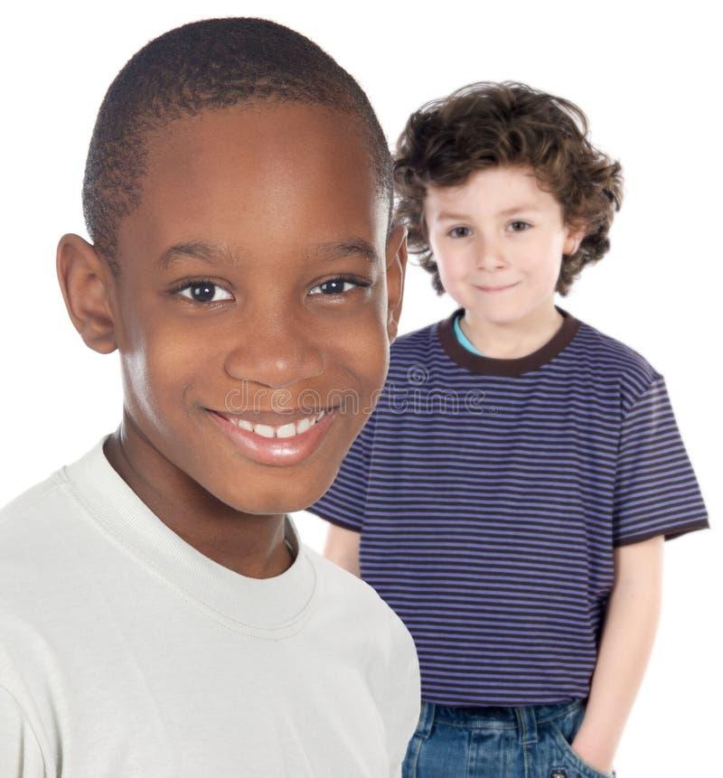 Amigos de los niños fotografía de archivo