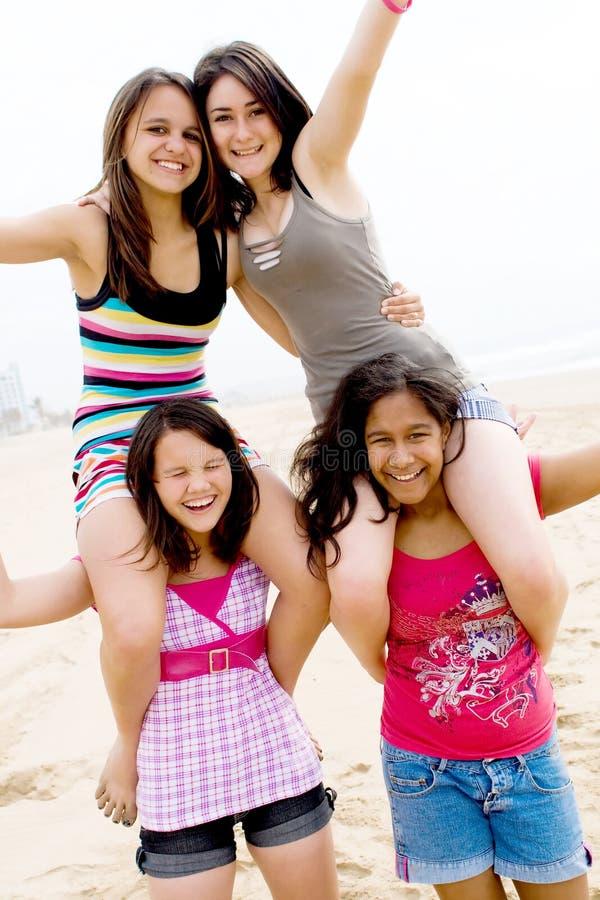 Amigos de muchacha foto de archivo