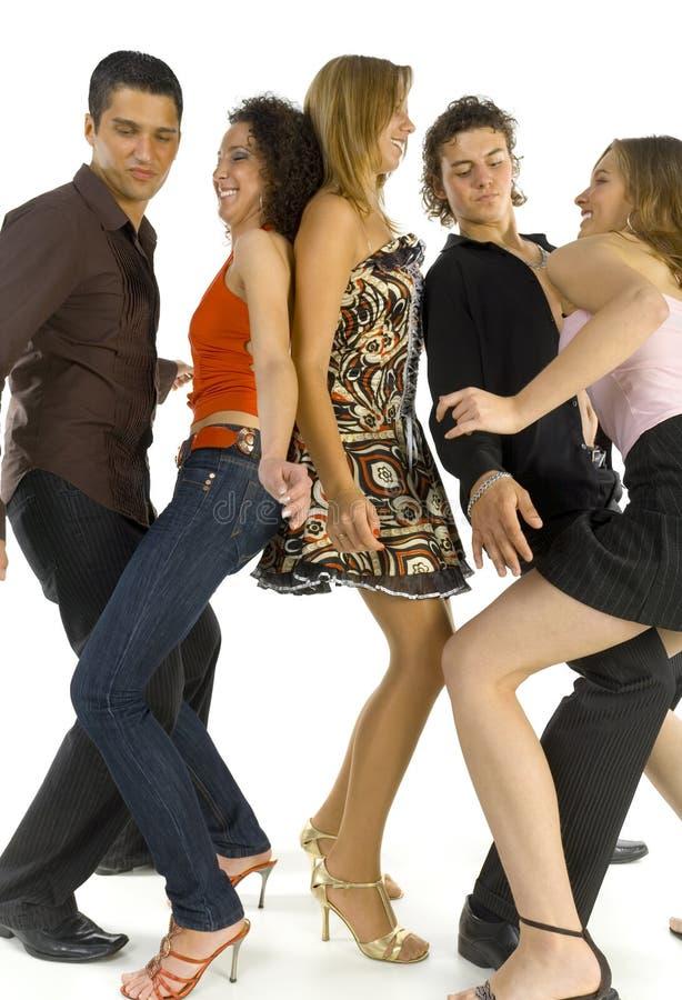 Amigos del baile imagenes de archivo