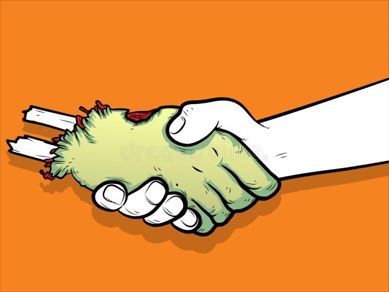 Amigos del zombi stock de ilustración