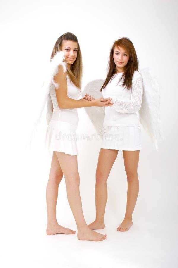 Amigos do anjo imagens de stock royalty free