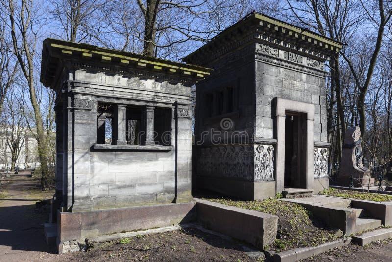 amigos do der do fã do forro do Capela-túmulo no cemitério de Novodevichy St Petersburg Rússia fotografia de stock royalty free