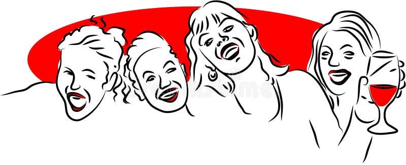 Amigos do divertimento ilustração royalty free
