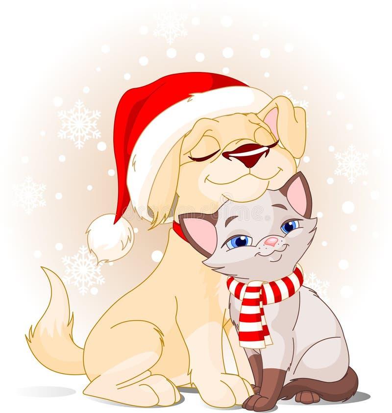 Amigos do Natal ilustração do vetor