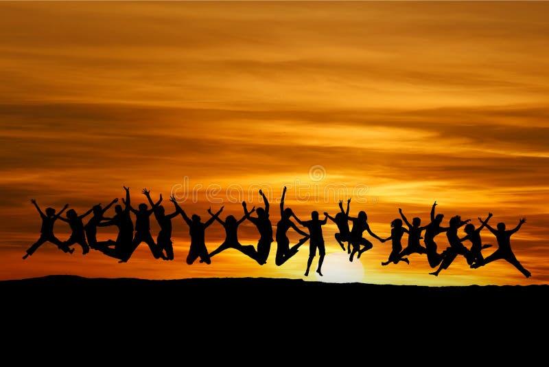Amigos do por do sol fotos de stock royalty free