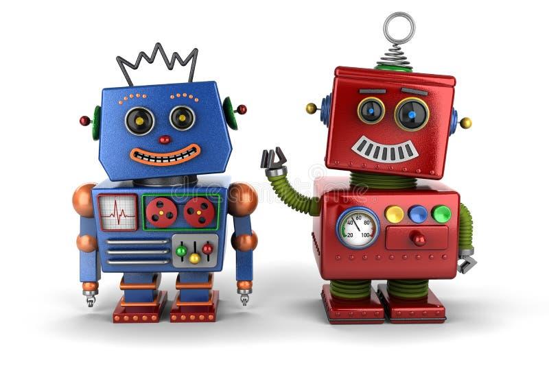 Amigos do robô do brinquedo ilustração do vetor