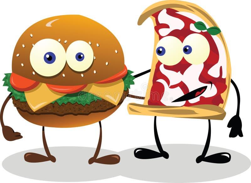 Amigos felices del alimento ilustración del vector