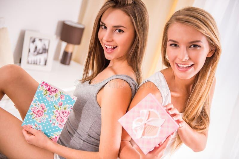 Amigos femeninos foto de archivo libre de regalías