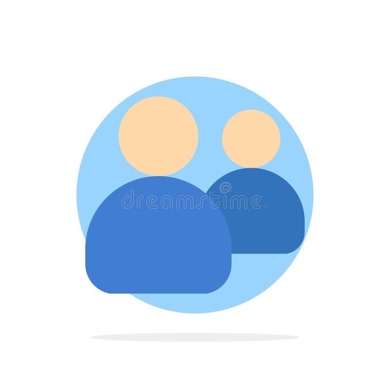 Amigos, grupo, usuários, ícone da cor de Team Abstract Circle Background Flat ilustração do vetor