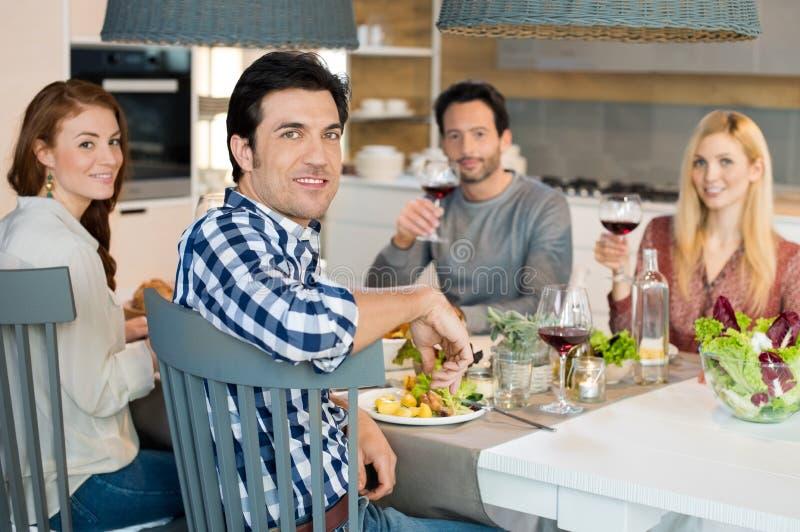 Amigos junto no almoço foto de stock royalty free