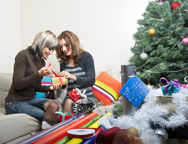 Download Amigos Que Preparan Regalos De Navidad Imagen de archivo - Imagen de charla, discussing: 7278669