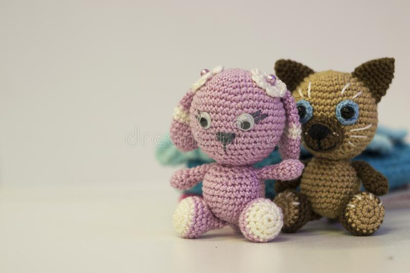 Crochet amigurumi pink cat toy, handmade doll kitten | Dolls ... | 533x800