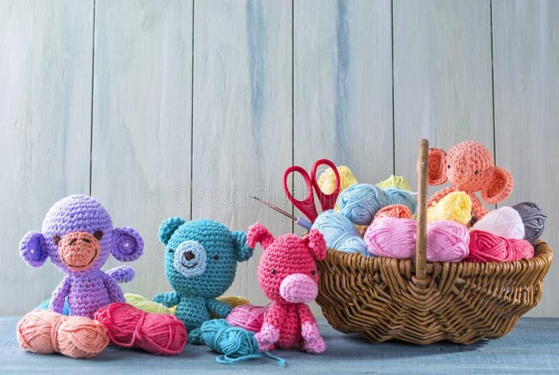 Amigurumi toys stock photography