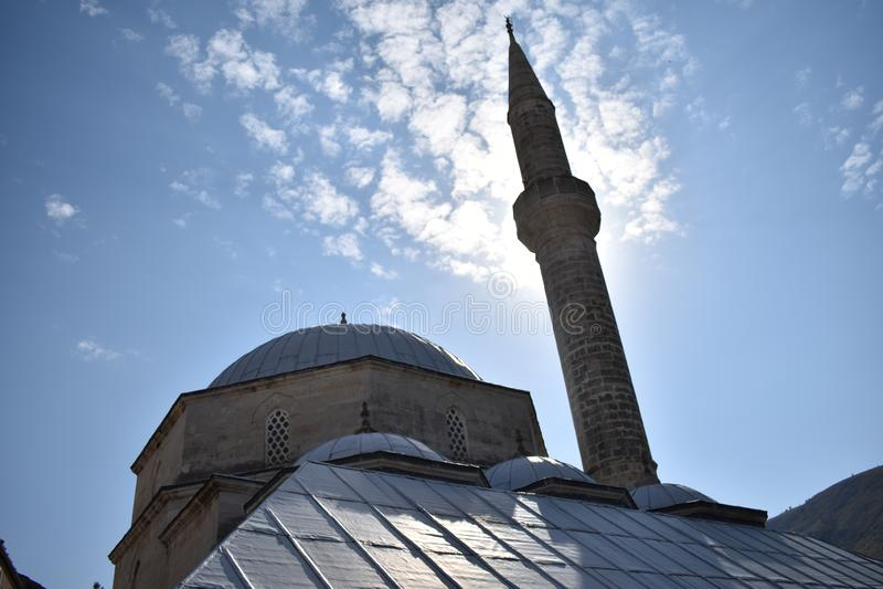 Amija u Mostaru för ¾ för dÅ för Koski Mehmed PaÅ ¡ ina arkivfoto