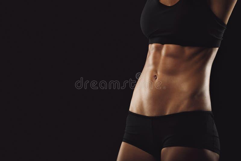 Amincissez et adaptez le ventre de femme photographie stock
