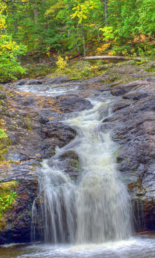 Amincon falls series. The 7th drop of amnicon falls state of wisconsin falls with fall colour color out seven in the niagara escarpment which run run under stock photos