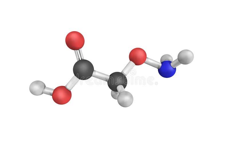 Aminooxyacetic zuur, dat als nuttig hulpmiddel wordt vermeld om gebied te bestuderen stock afbeeldingen