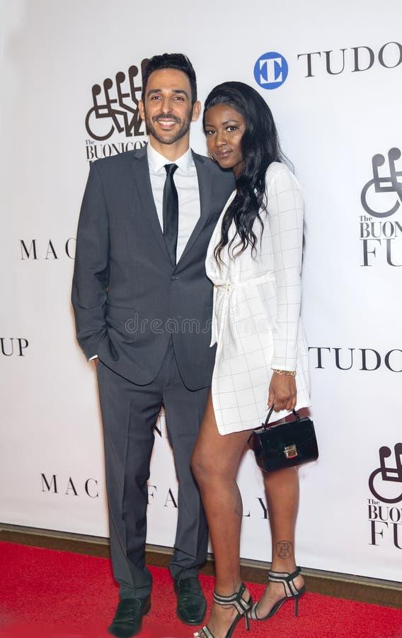 Amir Arison and Ornella Suad stock photo