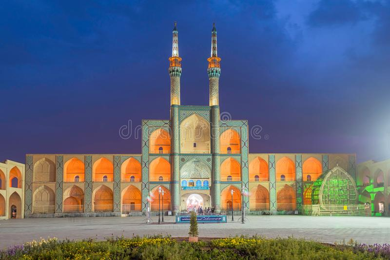 Amir Chakhmagh in Yazd, Iran fotografia stock
