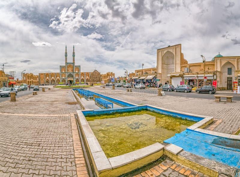 Amir Chakhmaq Complex i Yazd royaltyfria foton