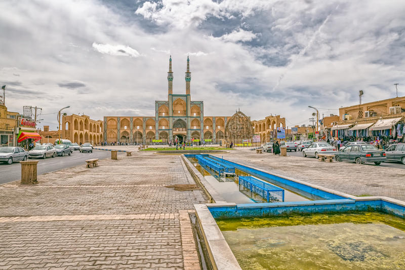 Amir Chakhmaq Complex i Yazd arkivbilder