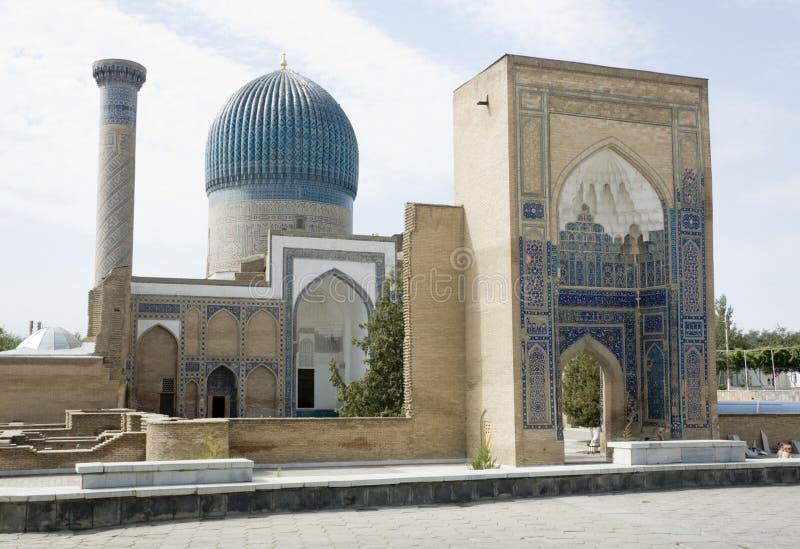 Amir gur-e Mausoleum, Samarkand stock foto's