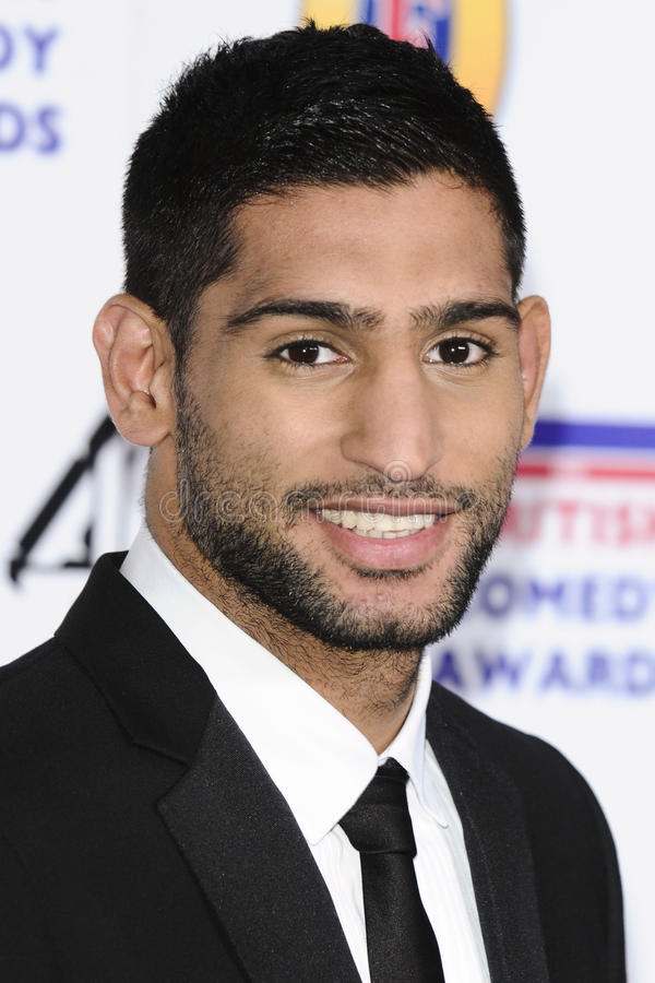 Amir Khan. Arriving for the British Comedy Awards 2011 at Fountains Studios, Wembley, London. 19/12/2011 Picture by: Steve Vas / Featureflash royalty free stock photography