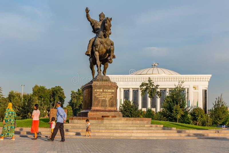 Amir Timur Maydoni, à Tashkent, l'Ouzbékistan images libres de droits