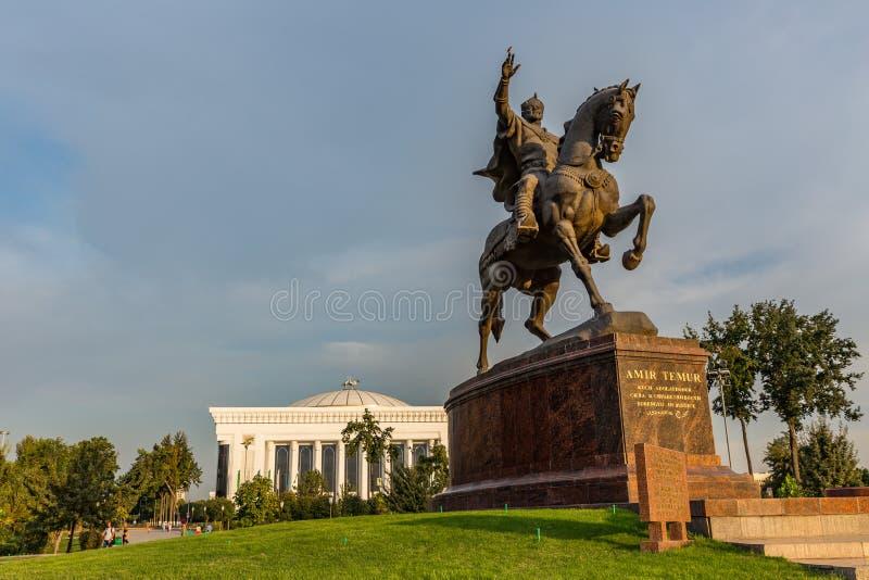 Amir Timur Maydoni, à Tashkent, l'Ouzbékistan photos libres de droits