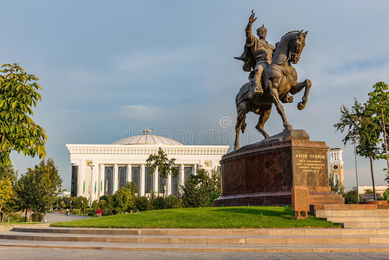 Amir Timur Maydoni, à Tashkent, l'Ouzbékistan image libre de droits