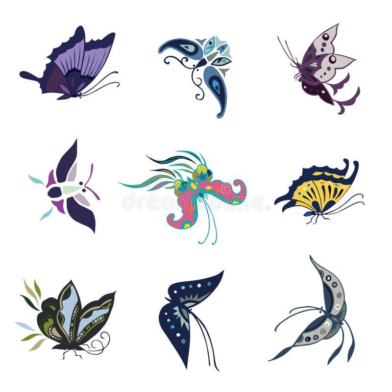 Amiral Butterfly, fjäril - kryp royaltyfri illustrationer