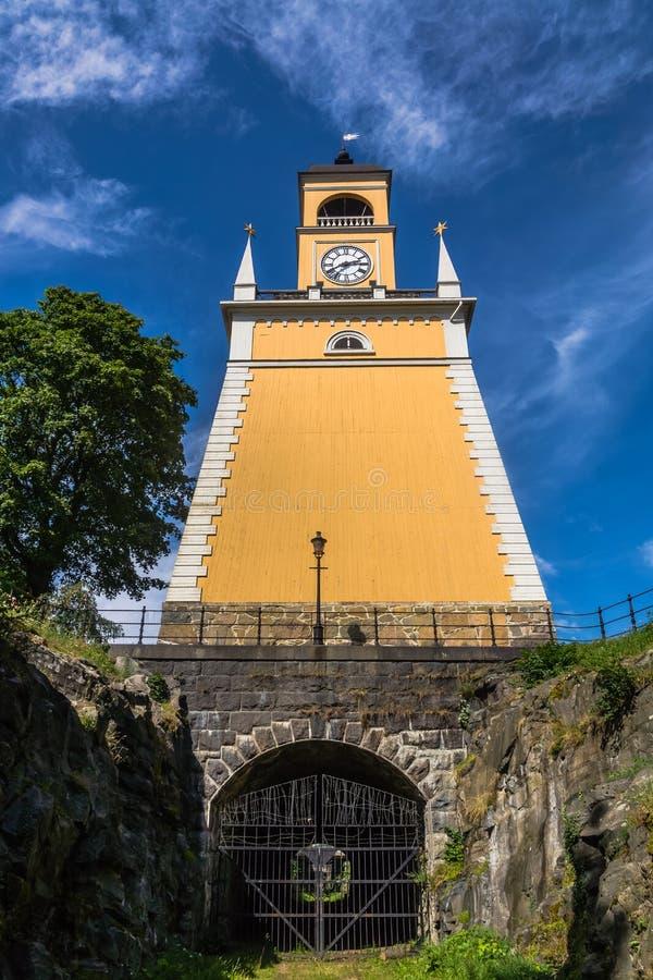 Amiralitetet klockstapel i Karlskrona arkivfoto