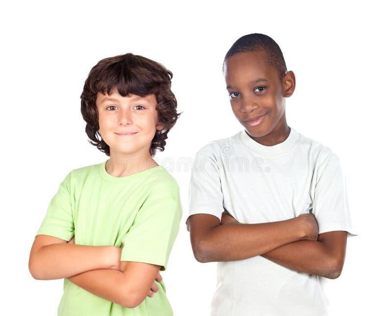 Amis d'enfants image libre de droits