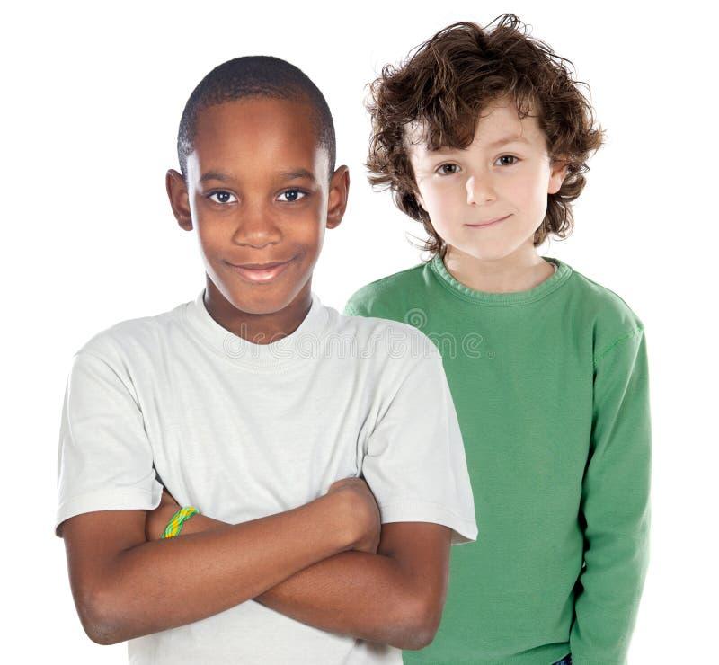 Amis d'enfants photos stock