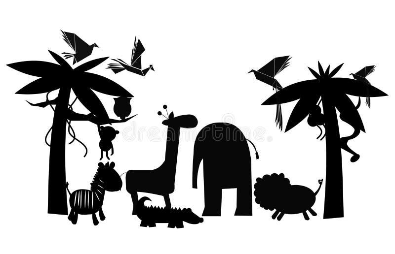 Amis de jungle illustration stock