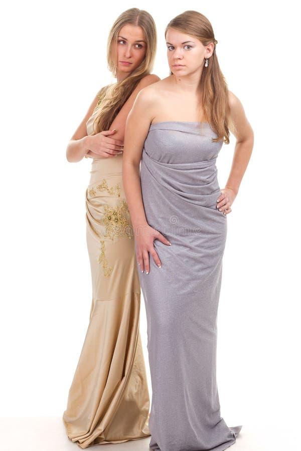 Amis envieux de Hall - deux filles dans des robes photos libres de droits