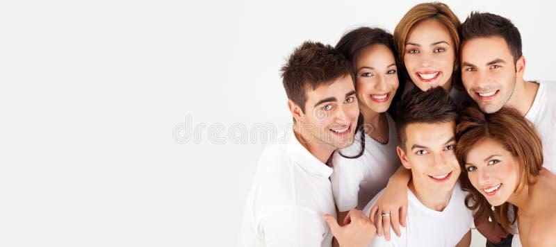 Amis heureux de sourire photos stock