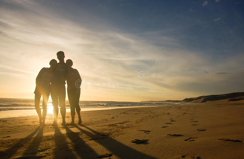 Amis sihouetted image stock